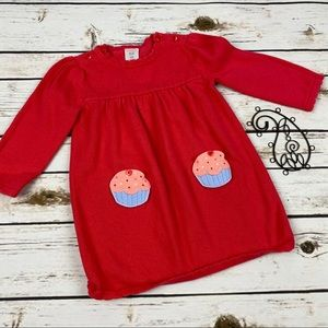 Gymboree 18-24 Mo Dress Sweater Cupcake Pockets
